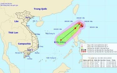 Bão Kalmaegi sẽ suy yếu khi tiến vào Biển Đông.
