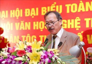 Ông Nông Quốc Bình, Chủ tịch Hội Văn học nghệ thuật các dân tộc thiểu số Việt Nam.