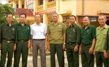 Lãnh đạo xã Lâm Giang và hội viên cựu chiến binh thực tế về công tác xây dựng Đảng, chính quyền tại cơ sở.