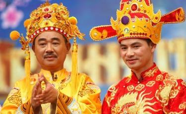 Ngọc hoàng Quốc Khánh và Nam Tào Xuân Bắc trong chương trình Táo quân.