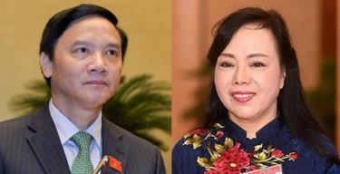 Ông Nguyễn Khắc Định và bà Nguyễn Thị Kim Tiến.