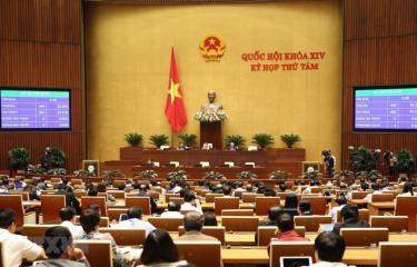 Các đại biểu Quốc hội biểu quyết thông qua Luật Thư viện với 442/446 đại biểu tán thành, đạt tỷ lệ 91,51%.