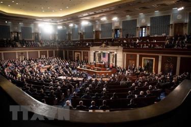 Toàn cảnh một phiên họp Quốc hội Mỹ ở Washington, DC.