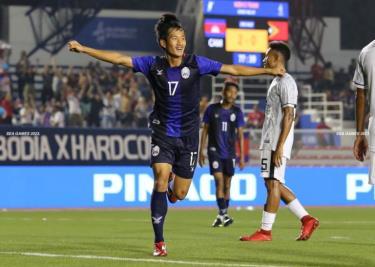 Thắng đậm U22 Timor Leste, U22 Campuchia vươn lên dẫn đầu bảng A.