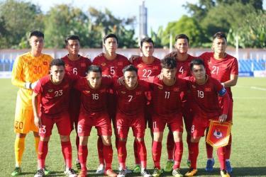 Đội hình xuất phát của U22 Việt Nam trước U22 Lào