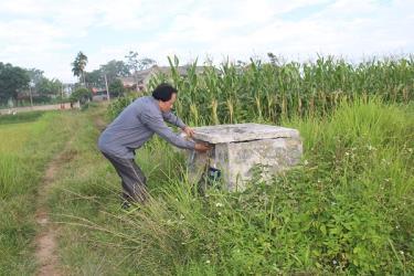 Một bể thu gom vỏ bao bì thuốc bảo vệ thực vật tại xã Báo Đáp (Trấn Yên)