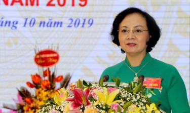 Đồng chí Phạm Thị Thanh Trà - Ủy viên Ban Chấp hành Trung ương Đảng, Chủ tịch HĐND tỉnh.