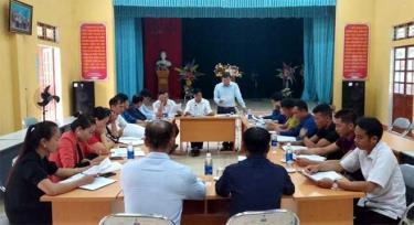 Đảng ủy xã Nghĩa Lợi họp triển khai công tác chuẩn bị cho đại hội chi bộ cơ sở.