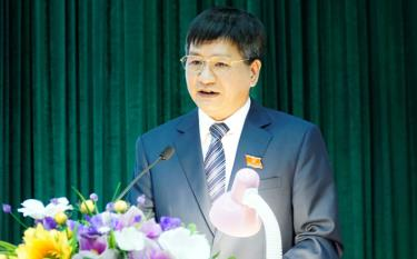 Đồng chí Lê Thành Đô, phát biểu tại kỳ họp.