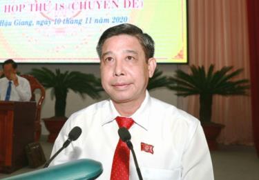 Ông Đồng Văn Thanh - tân Chủ tịch UBND tỉnh Hậu Giang