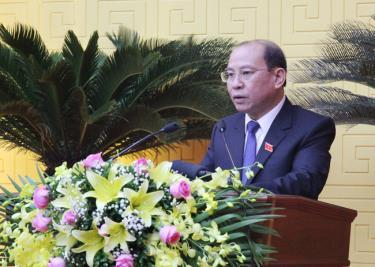 Ông Bùi Đức Hinh - Chủ tịch HĐND tỉnh Hòa Bình