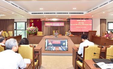 Các đại biểu dự hội nghị tại điểm cầu Thành ủy Hà Nội.