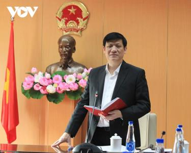 Bộ trưởng Bộ Y tế Nguyễn Thanh Long chỉ đạo tại Hội nghị.