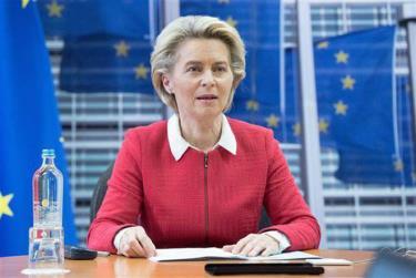 Chủ tịch Ủy ban châu Âu Ursula von der Leyen.