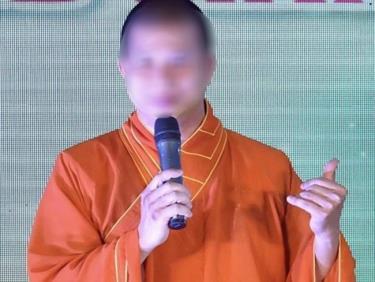 Phạm Văn Cung thời điểm còn là tu sĩ (Ảnh: Cổng TTTT Giáo hội Phật giáo Việt Nam)