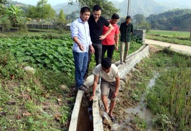 Hệ thống mương - tiểu dự án tại thôn Bản Chao, xã Việt Hồng, huyện Trấn Yên đảm bảo nguồn nước tưới cho người dân địa phương sản xuất hai vụ lúa/năm.