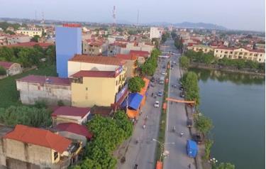 Một góc huyện Việt Yên, huyện đầu tiên của tỉnh Bắc Giang đạt chuẩn huyện NTM năm 2018.