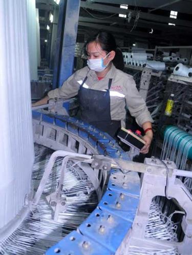 Công nhân Công ty TNHH sản xuất Bao bì trong giờ làm việc.