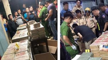 Tang vật ma túy chứa trong xe bán tải bị thu giữ hồi tháng 3.