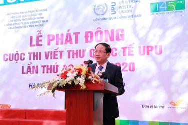 Thứ trưởng Bộ TT&TT Phạm Anh Tuấn phát biểu tại Lễ phát động.