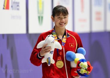 Ánh Viên đã có 3 huy chương Vàng tại SEA Games 30.