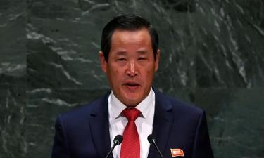 Đại sứ Triều Tiên Kim Song phát biểu trong cuộc họp của Đại hội đồng Liên Hợp Quốc hôm 30/9.