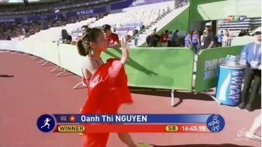 Nguyễn Thị Oanh tiếp tục thể hiện phong độ chói sáng.