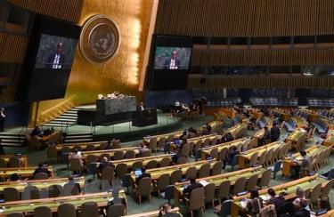 Một phiên họp của Đại hội đồng Liên hợp quốc.