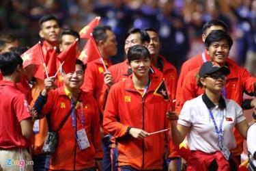 Đoàn thể thao Việt Nam rạng rỡ tại lễ bế mạc SEA Games 30.