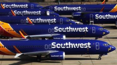Máy bay Boeing 737 MAX của Hãng hàng không Southwest Airlines tại sân bay Southern California Logistics, Mỹ.