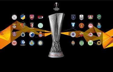 32 đội góp mặt ở vòng 1/16 Europa League.