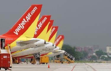 Đội tàu bay của hãng hàng không Vietjet.