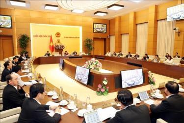 Quang cảnh Phiên họp thứ 39 của Ủy ban Thường vụ Quốc hội.