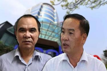 Bị can Lê Nam Trà (phải) và Cao Duy Hải.