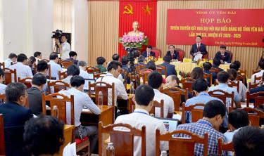 Họp báo tuyên truyền kết quả Đại hội đại biểu Đảng bộ tỉnh Yên Bái lần thứ XIX, nhiệm kỳ 2020 - 2025.
