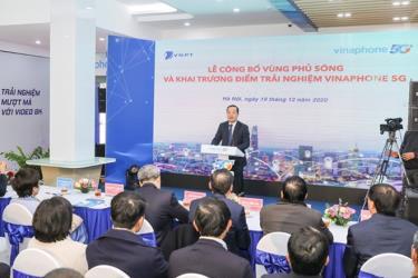 Ông Phạm Đức Long, Chủ tịch Hội đồng thành viên Tập đoàn VNPT phát biểu tại buổi lễ. (Ảnh: ĐT)