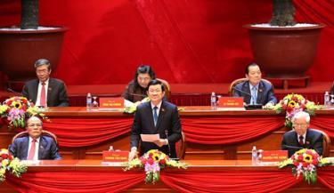 Đồng chí Trương Tấn Sang, Ủy viên Bộ Chính trị, Chủ tịch nước  thay mặt Đoàn Chủ tịch điều hành phiên họp chiều 22-1-2016.
