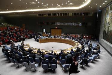 Toàn cảnh một cuộc họp Hội đồng Bảo an ở New York, Mỹ.
