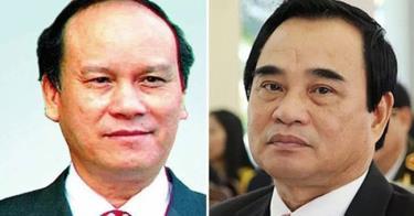 Ông Trần Văn Minh (trái) và ông Văn Hữu Chiến.