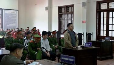 Bị cáo Giàng A Lăng tại phiên tòa.