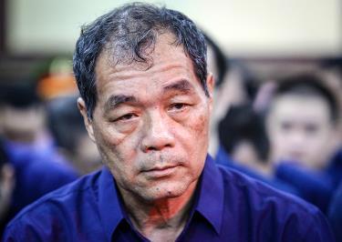 Ông Trầm Bê ra tòa hồi năm ngoái trong đại án Phạm Công Danh.