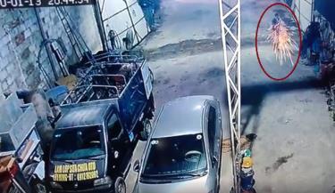 Hình ảnh nghi phạm nổ súng khiến 7 người thương vong được camera an ninh ghi lại.