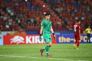 Bùi Tiến Dũng mắc sai lầm trong trận thua của U23 Việt Nam.