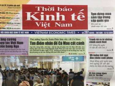 Thời báo Kinh tế Việt Nam thuộc Hội Khoa học kinh tế Việt Nam.