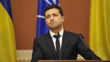 Tổng thống Ukraine Volodymyr Zelenskiy.