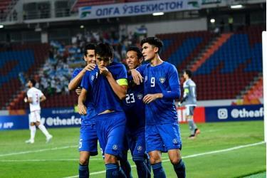 Các cầu thủ U23 Uzbekistan.