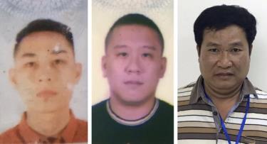 Ba bị can bị khởi tố (từ trái qua phải) gồm: Mai Tiến Dũng, Nguyễn Bảo Trung và Phạm Văn Hiệp.