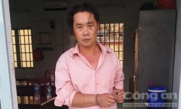 Đối tượng Nguyễn Hữu Phước lúc bị bắt