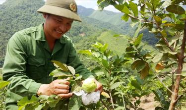 Nong Kim Ngoc's joy at the first products of his farm.