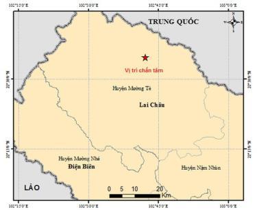 Bản đồ chất tâm động đất.